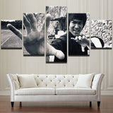 Bruce Lee Framed Canvas Poster Wall Art Print Set