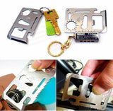 11 in 1 Multifunction Outdoor Hunting Survival Camping Pocket Military Credit Card Knife Multitool
