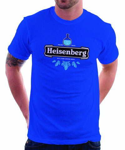 Breaking Bad Heineken Logo Parody Spoof t-shirt: Heisenberg Logo on Purple Colored Tshirt