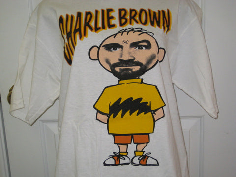 Charlie Brown Charles Manson Adult White Size L Large Tshirt