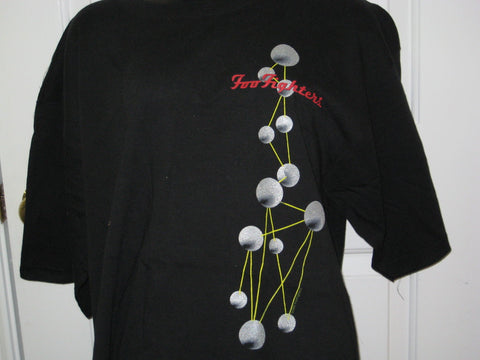 Foo Fighters Atoms Adult Black Size XL Extra Large Tshirt