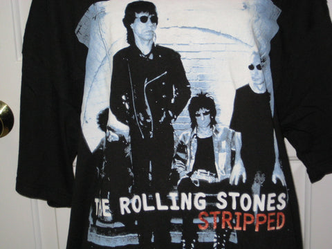 Rolling Stones Stripped Adult Black Size XL Extra Large Tshirt