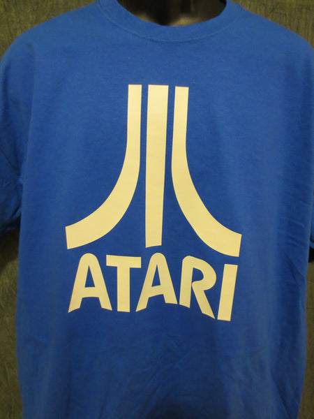 Atari Logo Tshirt: Blue With White Print - TshirtNow.net - 1