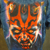 Star Wars Darth Maul Glows-in-The-Dark Liquid Blue Blue Custom Tye Dye Tshirt Size XL - TshirtNow.net - 3