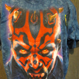Star Wars Darth Maul Glows-in-The-Dark Liquid Blue Blue Custom Tye Dye Tshirt Size XL - TshirtNow.net - 2