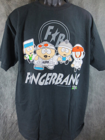 South Park Fingerbang Adult Black Size Large Tshirt