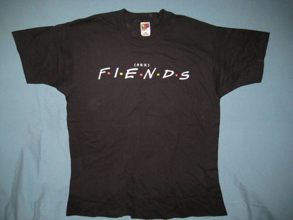 (Sex) F-I-E-N-D-S Friends Logo Spoof Black Colored Tshirt Size XL - TshirtNow.net
