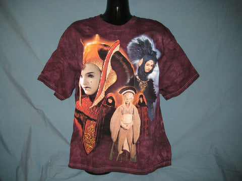 Star Wars Queen Amidala Adult Tie-Dye Tshirt