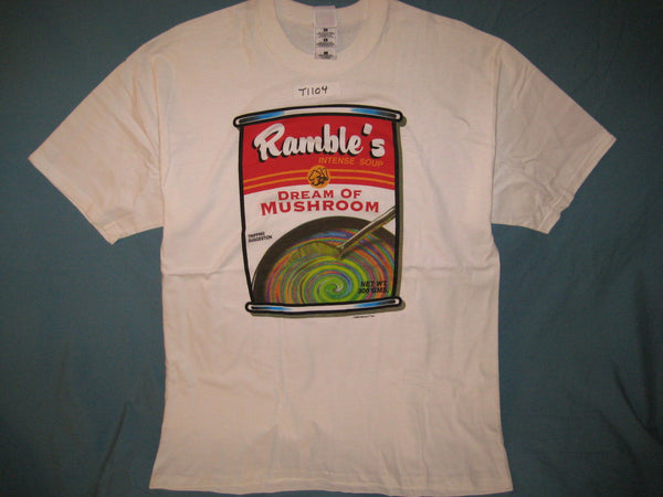 Ramble's Dream of Mushroom Adult White Size L Large Tshirt - TshirtNow.net - 1
