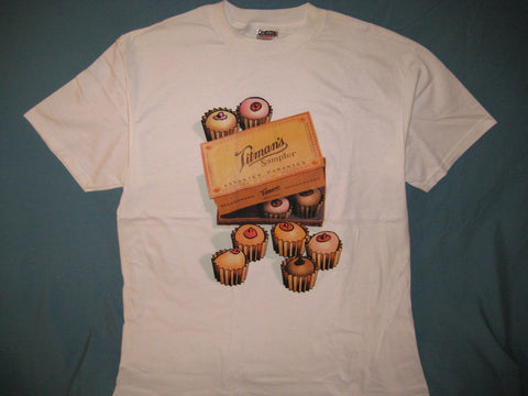 Titman's Sampler Adult White Size XL Extra Large Tshirt