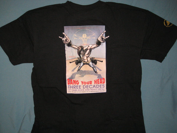 Rock and Roll Hall of Fame Bang Your Head Adult Black Size XL Extra Large Tshirt - TshirtNow.net - 1