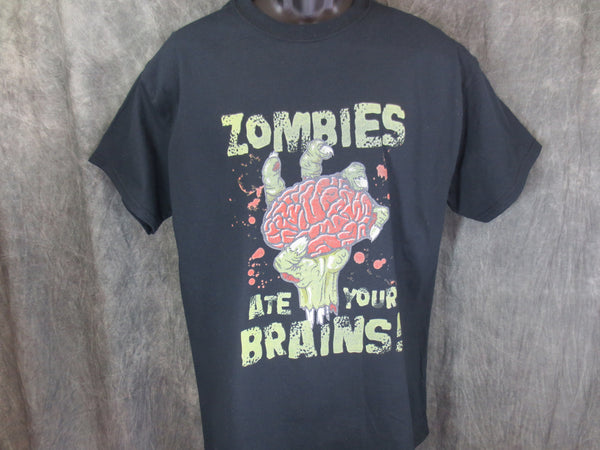 Zombies Ate Your Brains Tshirt - TshirtNow.net - 1