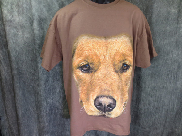 Golden Retriever Face Tshirt Brown Tshirt - TshirtNow.net - 1