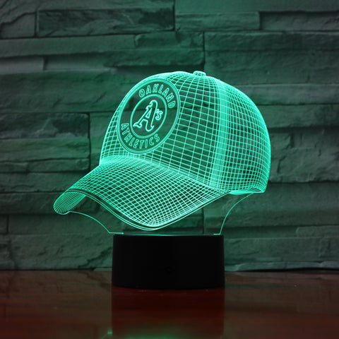MLB OAKLAND ATHLETICS 3D LED LIGHT LAMP