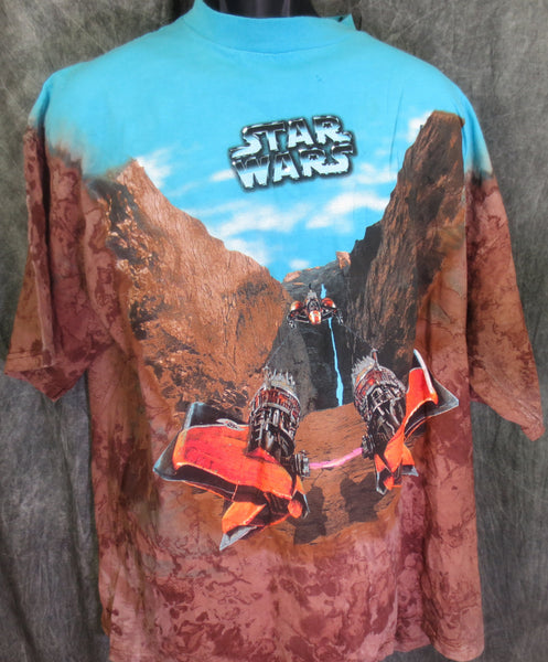 Star Wars Podrace Canyon Tye Dye Tshirt - TshirtNow.net - 1