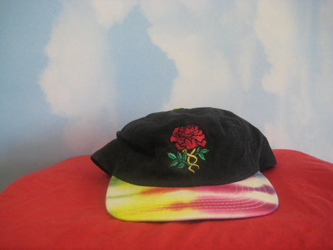Grateful Dead Embroidered Rose Tye Dye Bill Cap Hat