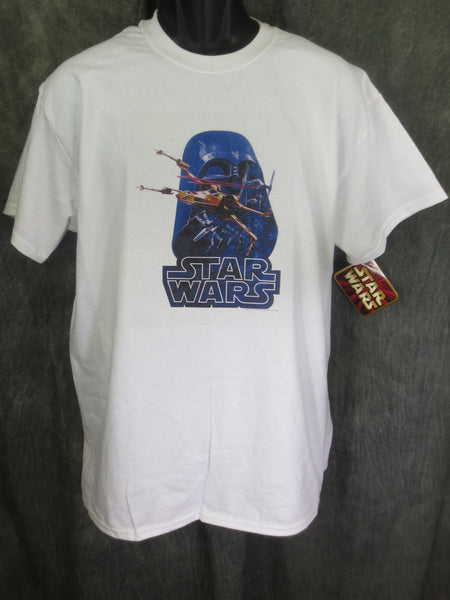 Star Wars Space Battle Vader Mask Retro Tshirt - TshirtNow.net - 1
