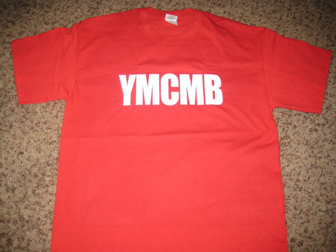 Ymcmb Tshirt: Red With White Print