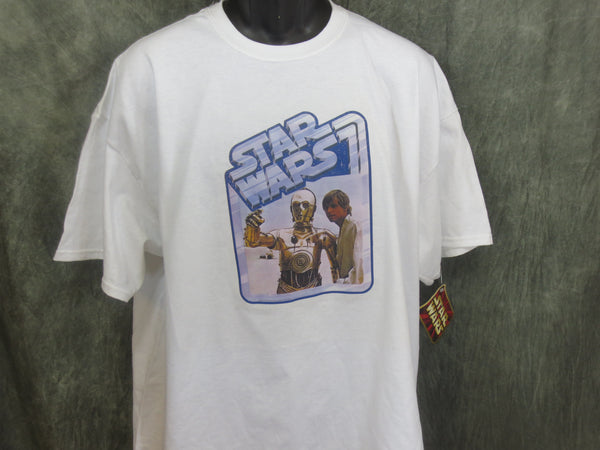 Star Wars Luke and C3PO Retro Tshirt - TshirtNow.net - 1