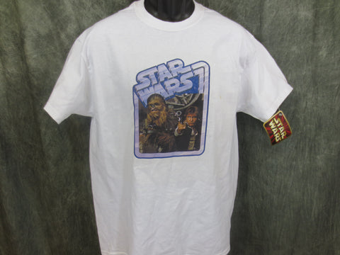 Star Wars Chewbacca and Han Retro Tshirt