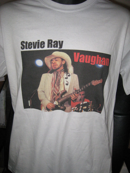 Stevie Ray Vaughan Music Note Guitar Strap Tshirt: Ice Grey Tshirt - TshirtNow.net - 1