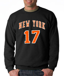 Linsanity New York Knicks Jeremy Lin - Black Crewneck Sweatshirt - TshirtNow.net