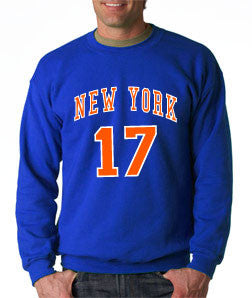 New York Knicks Jeremy Lin - Blue Crewneck Sweatshirt