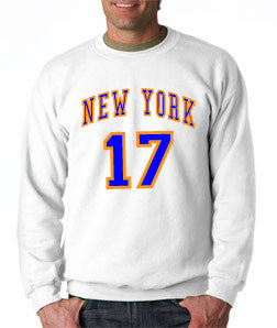 New York Knicks Jeremy Lin - White Crewneck Sweatshirt - TshirtNow.net