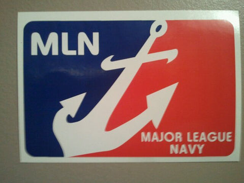 Major League Navy Decal