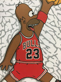 The Simpsons Homer Simpson Chicago Bulls Basketball Allover Print Tshirt - TshirtNow.net - 2
