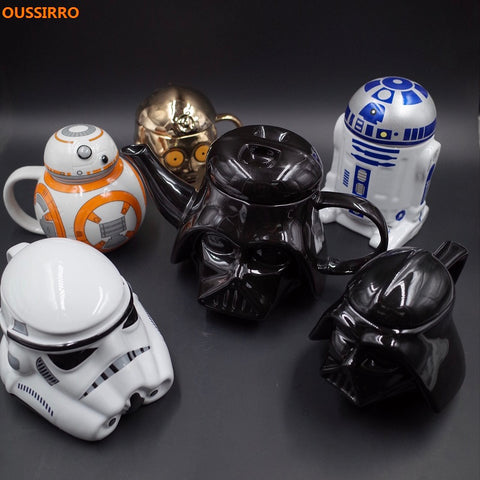Retro Star Wars 3D Ceramic Coffee/Tea Mugs