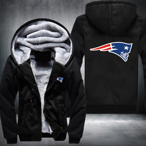 NFL NEW ENGLAND PATRIOTS BIG LOGO THICK FLEECE JACKET