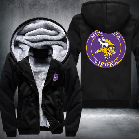 NFL MINNESOTA VIKINGS LOGO THICK FLEECE JACKET