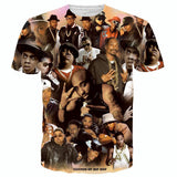 Allover 3D print legends of hip hop tupac / biggie smalls / snoop dogg tshirt - TshirtNow.net - 1