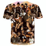 Allover 3D print legends of hip hop tupac / biggie smalls / snoop dogg tshirt - TshirtNow.net - 2