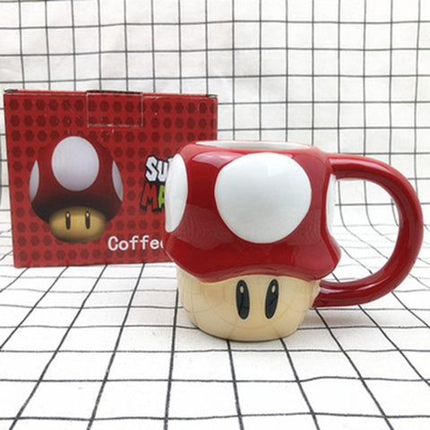 Super Mario Mushroom Porcelain Ceramic Coffee/Milk/Tea Mug