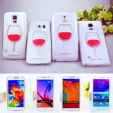 Wine Lovers Red Wine Cup Liquid Clear Case For Samsung Galaxy S7 S6 Edge S5 S6 Note 3 Note 4 Note 5 Hard Transparent Phone Cases Back Cover - TshirtNow.net - 3