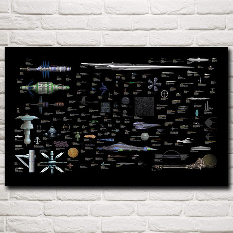 Star Trek Babylon 5 Space Battlestar Galactica Art Silk Poster Wall Art