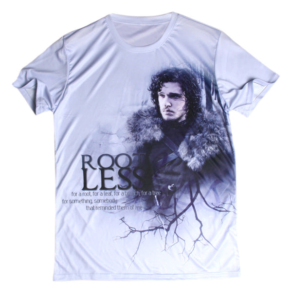 Game Of Thrones Jon Snow Root Less Allover 3D Print Tshirt - TshirtNow.net - 1