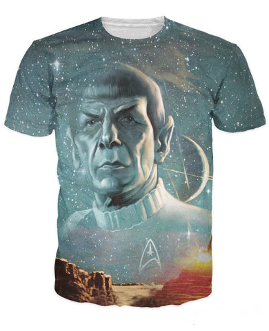 Star Trek Spock Allover 3D Print Tshirt
