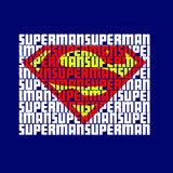 Superman Word Art Logo On Navy Hoodie for Men - TshirtNow.net - 2