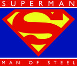 Superman Man of Steel Block Logo on White Crewneck for Men - TshirtNow.net - 2