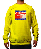 Superman Man Of Steel Block Logo on Yellow Crewneck Sweatshirt - TshirtNow.net - 1
