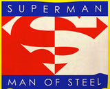 Superman Man Of Steel Block Logo on Yellow Tank top for Men - TshirtNow.net - 2