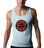 Superman Herowear Round Logo on Ash Gray Tank top for Men - TshirtNow.net - 1