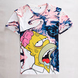 The Simpsons Homer Simpson Summer Melting Mens' 3D Allover Print Tshirt - TshirtNow.net - 1