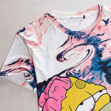 The Simpsons Homer Simpson Summer Melting Mens' 3D Allover Print Tshirt - TshirtNow.net - 3