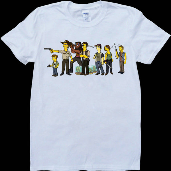 The Simpsons Characters as the Walking Dead Cast Members Tshirt - TshirtNow.net
