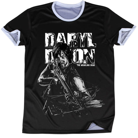 The Walking Dead 3D Oversize Print Rick and Daryl Ringer Tshirts