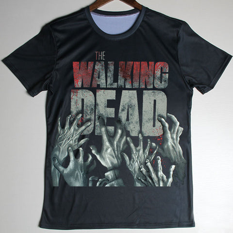 The Walking Dead Zombie Hands Logo Oversize Print T-Shirt